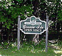 Grosse Ile Open Space sign
