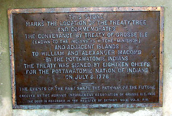 Treaty Tree Plaque